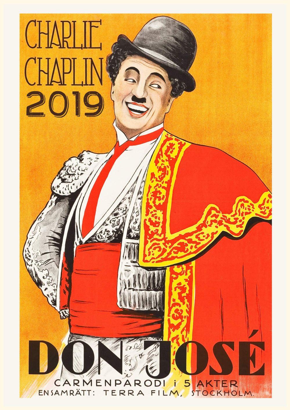 2019 Wall Calendar Charlie Chaplin Vintage Movies Posters