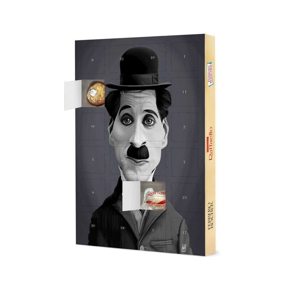 Advent Calendar XXL with Ferrero chocolate Charlie Chaplin Movie Christmas Calendar