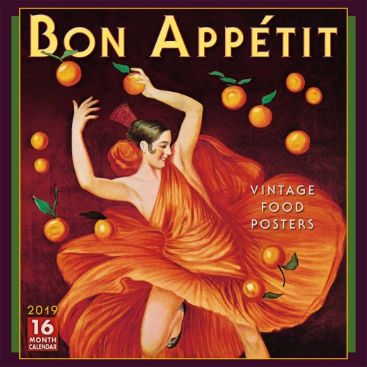 Bon Appétit Vintage Food Posters 2019 Calendar