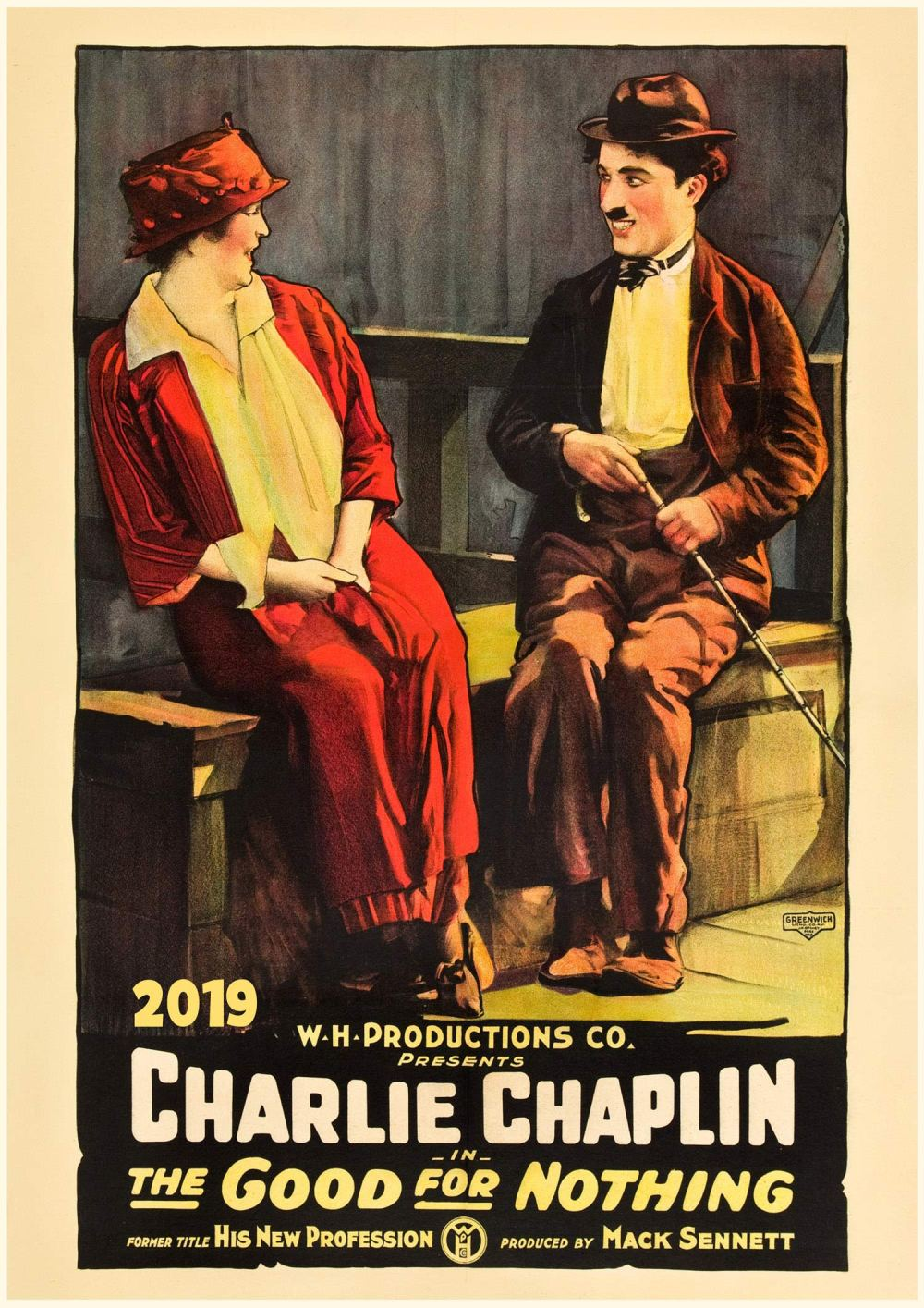 Charlie Chaplin Early Movies Vintage Posters