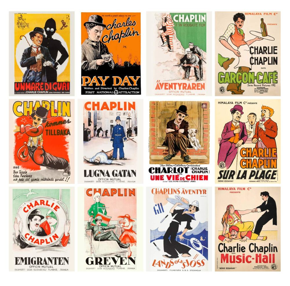 Charlie Chaplin Short Movies Vintage Posters