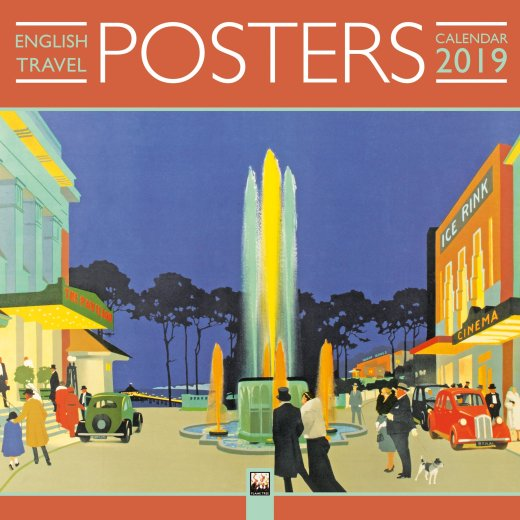 English Travel Posters Wall Calendar 2019 (Art Calendar)
