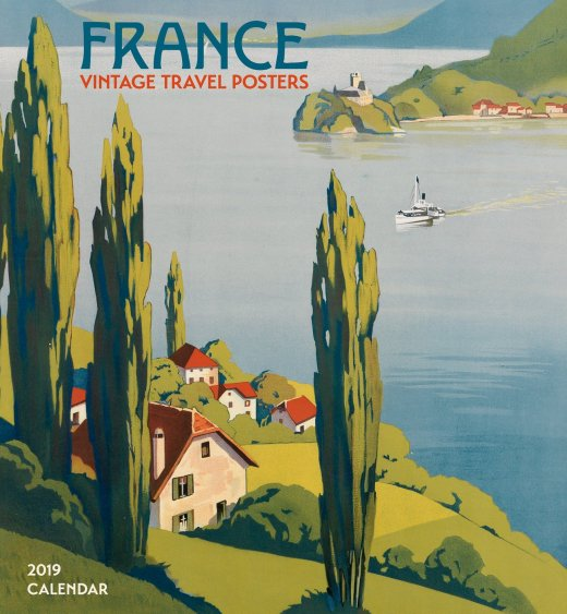 France Vintage Travel Posters 2019 Wall Calendar