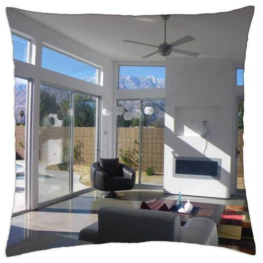 iRocket - Mid Century Modern House - Throw Pillow Cover