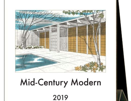 Mid-Century Modern 2019 Easel Desk Calendar by Found Image Press