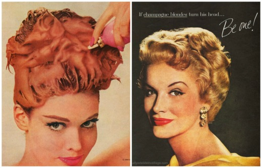 Vintage red hair dye