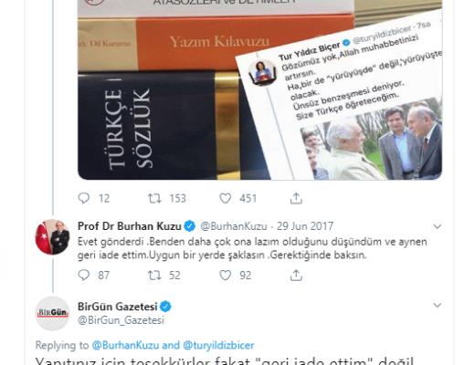 Burhan Kuzu ve Türkçe seti & Kapak sözler