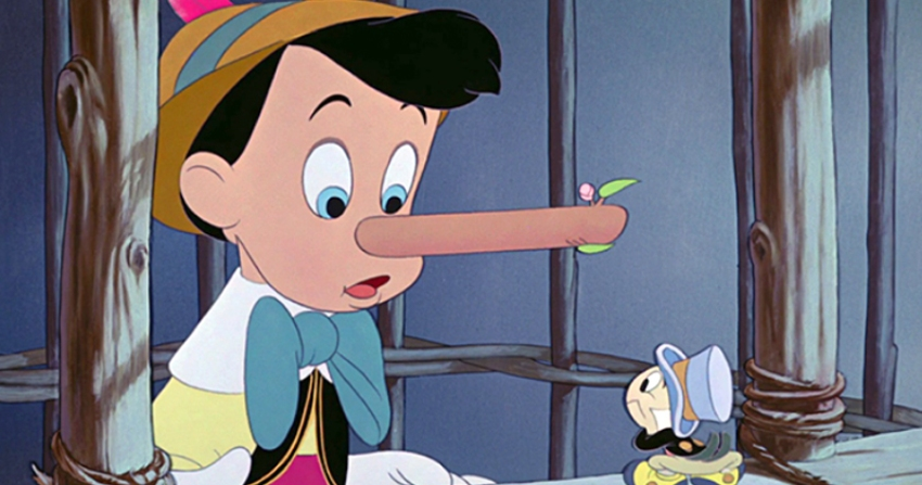 "What happens if Pinocchio says, ""Look, my nose will grow soon!""?"